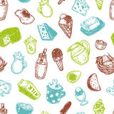Dairy Products, Pattern. Royalty Free Stock Photography