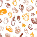 Dairy Products, Pattern. Stock Photos