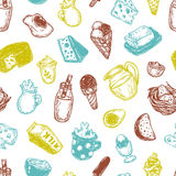 Dairy Products, Pattern. Stock Photography