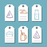 Dairy products sale badges set Stock Photography