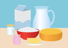 Dairy products set Royalty Free Stock Photography