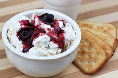 Dairy products for Shavuot traditional meal. Dairy products is a traditional meal on the Jewish Shavuot holiday. Series of images for Shavuot stock images
