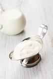 Dairy products - sour cream, milk. Stock Photo