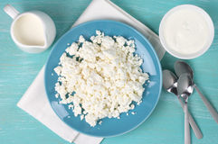 Dairy products on table Stock Images