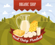 Dairy products vector Stock Image