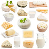 Dairy products on a white background Royalty Free Stock Image