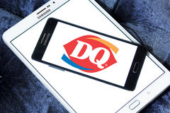 Dairy queen dq fast food logo Stock Images