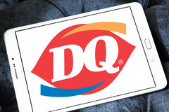 Dairy Queen, DQ fast food restaurant logo. Logo of  Dairy Queen, DQ fast food restaurant on samsung tablet Royalty Free Stock Image