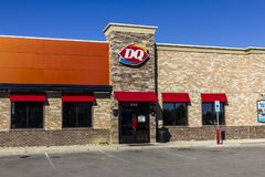 Indianapolis - Circa September 2017: Dairy Queen Retail Fast Food Location. DQ is a Subsidiary of Berkshire Hathaway VII Stock Photo