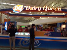Dairy queen shop Royalty Free Stock Photography