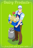 Dairy Services People Isometric Royalty Free Stock Photo