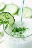 Dairy vegetable cocktail. With radish, dill, cucumber and yogur Stock Photography