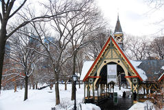 The Dairy. A Victorian structure in New York`s Central Park, now serves as a visitors center royalty free stock photo