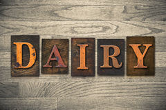 Dairy Wooden Letterpress Theme Royalty Free Stock Image