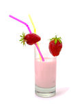Dairy yogurt with strawberry. Stock Photography