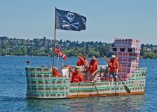 The dairygold ship in the milk carton races Royalty Free Stock Photos