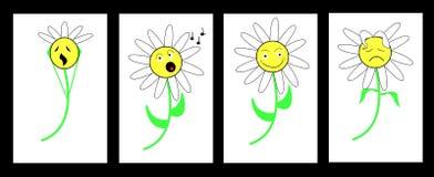 Dais-e-motions, emoticons,scream singing happy sad Stock Photography
