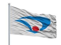 Daisen miasta flaga Na Flagpole, Japonia, Akita prefektura, Odizolowywająca Na Białym tle royalty ilustracja