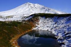 Daisetsuzan nationalpark, Hokkaido, Japan Arkivbild