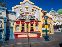 Daisey's Diner in Toontown, Disneyland. ANAHEIM, CALIFORNIA - FEBRUARY 12: Daisey's Diner in the Toontown section of Disneyland on February 12, 2016 in Anaheim Royalty Free Stock Images