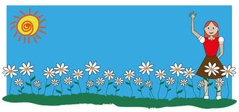 Daisies and baby Stock Images