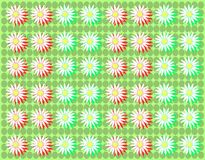 Colorful background with daisies in green Royalty Free Stock Photos