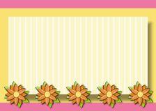 Daisies Background Frame Royalty Free Stock Photos