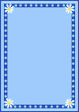 Daisies border frame. A frame / border with daisy on blue Royalty Free Stock Photography