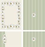 Daisies border wedding invitation set Royalty Free Stock Photo