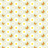 Daisies and butterflies seamless pattern. White daisies and butterflies seamless pattern.Daisy field Royalty Free Stock Image