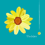 Daisies Flower on Blue Background vector Royalty Free Stock Photos