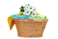 Daisies on Fresh Towels Royalty Free Stock Image