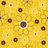 Daisies Seamless Pattern Royalty Free Stock Images