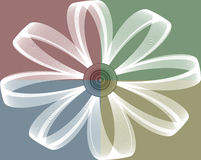 Daisy abstract. Daisy on four square background Stock Images