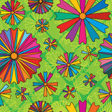 Daisy abstract colorful free seamless pattern Stock Photo
