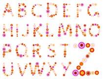 Daisy alphabet Stock Photography