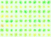 Daisy background series. Daisy background in zingy spring time greens and yellows Stock Photo