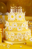 Daisy birthday cake Stock Images