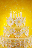 Daisy birthday cake Stock Photo