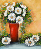 Daisy bloemboeket royalty-vrije illustratie
