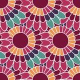Daisy bloemen naadloos patroon in vector Kleurrijke eindeloze achtergrond met bloemen stock illustratie