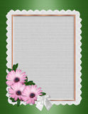 Daisy Border wedding invitation Stock Image