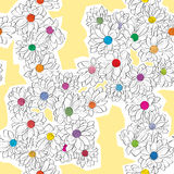 Daisy bouquet pattern Stock Photography