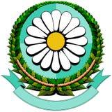 Daisy cartoon logo Royalty Free Stock Photography