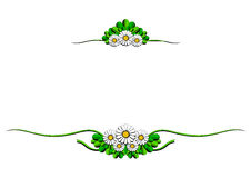 Daisy cartoon ornaments Stock Photos