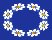 Daisy Chain. An illustration of a daisy chain on blue background Stock Photography