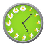 Daisy clock Royalty Free Stock Images