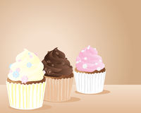 Daisy cup cakes Royalty Free Stock Images