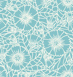 Daisy doodle pattern Royalty Free Stock Images