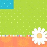 Daisy & Dot Designs. Background paper with dots and Daisy vector illustration